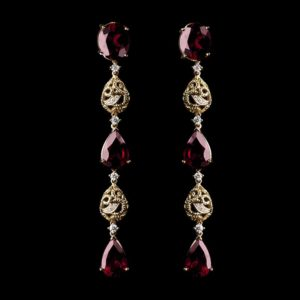 Virtuti Dream Earrings - Garnet