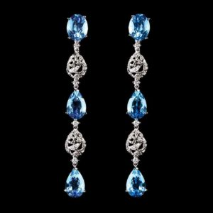 Virtuti Dream Earrings - Blue Topaz